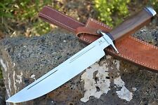 "HUNTEX Handmade Japanese D2 Steel 16"" Long Walnut Wood Hunting Bowie Dagger"