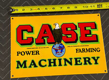 Case Machinery Porcelain Sign Farm Gas Oil Agriculture Farm Tractor Plow Eagle