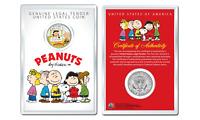 Peanuts VALENTINE'S OFFICIAL JFK Half Dollar U.S. Coin in PREMIUM HOLDER