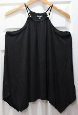Express Women's Top High Neck Tank Blouse Handkerchief Hem Soft Silk Modal Blend