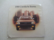 1980 Toyota Corolla automobile advertising booklet