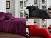 New Duvet Set Quilt Cover Luxury Vincenza Bedding Set with Pillow Cases All Size