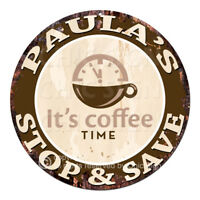 CWSS-0095 PAULA'S STOP&SAVE Coffee Sign Birthday Mother's Day Gift Ideas