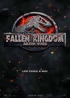 JURASSIC WORLD FALLEN KINGDOM POSTER FILM A4 A3 A2 A1 LARGE FORMAT CINEMA MOVIE