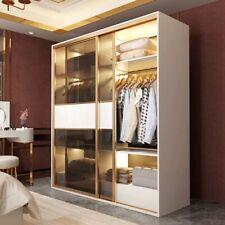 edler Schrank Luxus Schwebetüren Design Schlaf Zimmer Schränke Kleider Holz Neu