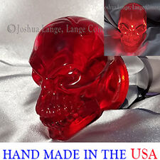 Harley Davidson custom turn signal lighting Skull lenses Red Gloss bullet style