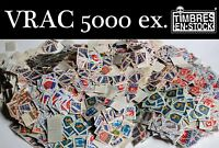 VRAC : ACCUMULATION DE 5000 TIMBRES DE FRANCE TYPE BLASONS !!!