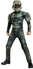 BOYS MASTER CHIEF CLASSIC HALO GAME MUSCLE COSTUME DRESS DG89975