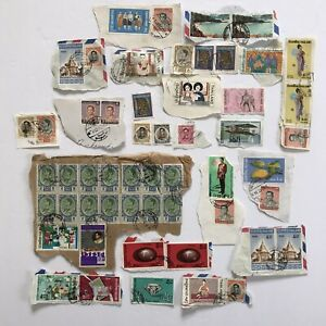Thailand Postage Stamps Lot of 54 Used 1970's