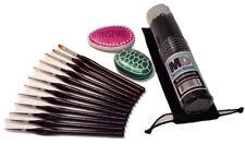 Miniature Detail Paint Brush Set, 12pcs, Ergo Handle, Bag, Brush and Holder
