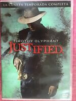 JUSTIFIED CUARTA 4ª TEMPORADA COMPLETA SERIE TV 3 x DVD TIMOTHY OLYPHANT  AM