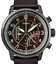 TIMEX MEN'S WATERBURY LINEAR CHRONOGRAPH WATCH, BROWN FACE, TW2R69200, NIB