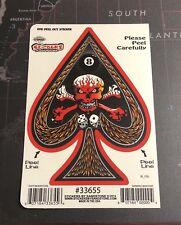 Skull Ace Of Spades Vinyl Sticker S006S Eight Ball Dice Harley Tattoo
