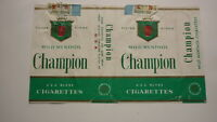 OLD EMPTY CIGARETTE PACKET LABEL FROM PHILIPPINES, CHAMPION MILD MENTHOL