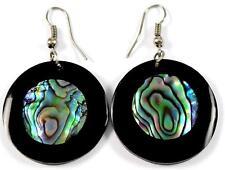 earrings ; Ca425 Iridescent Paua Abalone Shell