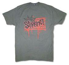 Slipknot Flag Summer's Last Stand Tour 2015 Grey T Shirt New Official