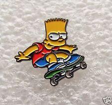Bart Simpson on a Skateboard enamel pin lapel badge The Simpson Family