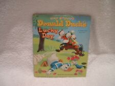 Vintage Antique 1951 Tell-A-Tales Disney DONALD DUCK'S LUCKY DAY Hard Cover