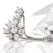 Diamant Echtschmuck-Halsketten & -Anhänger im Collier-Stil mit P1 Reinheit