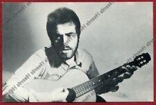 NINO TRISTANO 01 CANTANTE SINGER Cartoncino PUBBLICITARIO DISCHI PARLOPHONE 1969