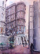 "San Francisco Buildings Watercolor Original Painting  11"" x 14""  NOT A PRINT"