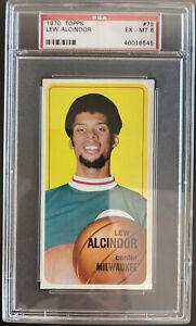 1970-71 Topps, #75, HOF Lew Alcindor, Milwaukee Bucks, PSA 6 EX-MT, BEAUTY!