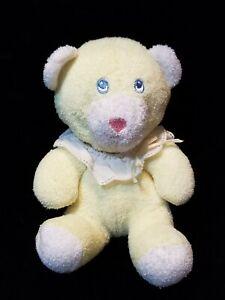 Vintage Eden Yellow Terrycloth Teddy Bear No Tag Small Mini