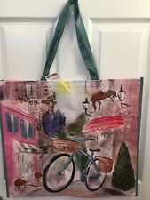 Reusable Pink & Bicycle Shopping Tote (Marshalls)
