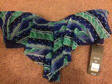 Mossimo NEW Swim Bikini Top Only XL Blue Green NWT