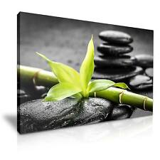 Zen Bamboo Spa Stone Canvas Wall Art Picture Print A1 76x50cm Special Offer