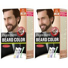 Pack of 2 Bigen Men's Beard Color, Dark Brown B103 (20g+20g)