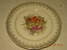 "C.T. Germany Fruit Plate. 8"". Gold Trim. NICE"