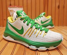 2016 Nike KD 8 Oregon Ducks Promo Size 6.5 -White Apple Green Yellow-SP16 Sample
