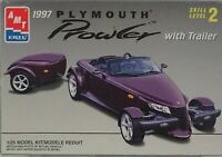 PLYMOUTH PROWLER With Trailer AMT ERTL 1997 1/25 Scale Plastic Model Kit 1997