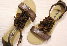 "Dream Out Loud by Selena Gomez ""Madison"" Flat Sandal Brown Size 8 #51199"