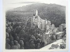 WILLY KRAUSS Manderscheid Eifel Bernkastel Wittlich Ruine NIEDERBURG Burg castle