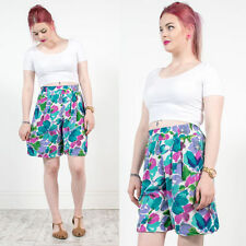 VINTAGE 90'S NINETIES BRIGHT TROPICAL PATTERNED HIGH WAIST CULOTTES SHORTS 10