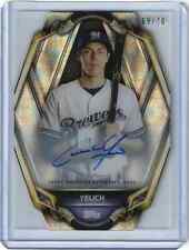 2019 Topps High Tex Christian Yelich Acetate On Card Autograph 69/70 BREWERS