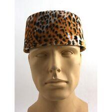 Leopard Costume Fez Hat Hipster Shriner Hat Leopard Pill Box Hat
