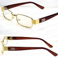 new mens womens dg eyewear clear lens frame glasses designer fashion nerd gold