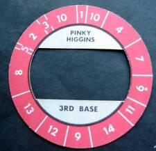 Cadaco All-Star Baseball Game Disk Red Border Pinky Higgins 3rd Base