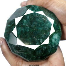 3650 Cts Natural Brazilian Green Emerald Museum Size Round Faceted Huge Gemstone
