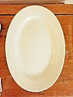 Vintage Exlarge White Ironstone Oval Platter, Marked, 20 3/4 Inches by 14 1/4 ""