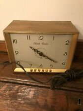 Antique Vintage Collectible Benrus Clock Radio Electric Metal Case