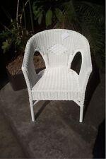 Rattan Sessel neu weiß Stuhl Korbsessel stapelbar