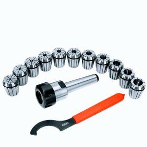 MT3 ER-32 Collet Set - Milling Cutter Shank Tool + 11Pcs Collets Chuck + Spanner