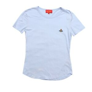 Vivienne Westwood T-Shirt Light Blue Orb Short Sleeved Size S