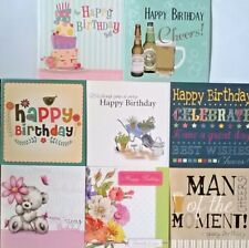 Pack of 8 Male Female Assorted Open Birthday Greeting Cards For Him Her