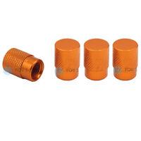 4 Stück YOU.S Alu Ventilkappen Orange mit Dichtung für Auto PKW LKW