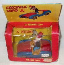 ✰early 70's Italy✰ Politoys Disney auto Ezechiele Lupo Polistil big bad wolf car